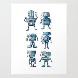We Are All Robots Art Print