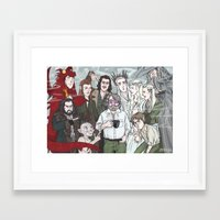 hobbit Framed Art Prints featuring Hobbit Party by enerjax