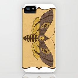 Death's Head Moth  iPhone Case