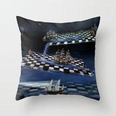 Turbulent journey time  Throw Pillow
