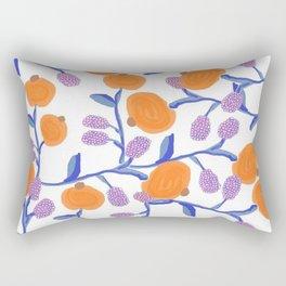 Fall Blues and Oranges Rectangular Pillow