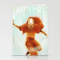aang Stationery Cards featuring Avatar Aang by drawnerys