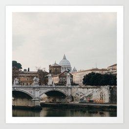 River Tiber & Vatican Art Print