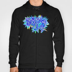 S6 TEE Aqua Blue surf Zentangle Hoody