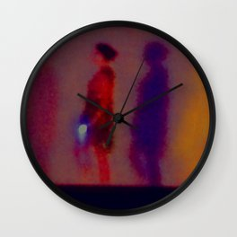 Walking In The Dark Wall Clock