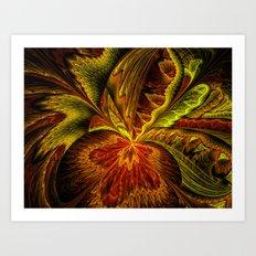 Autumn Orchid Art Print