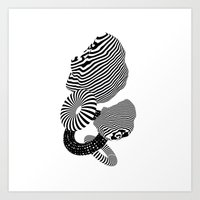 abstract 3d forms Art Print