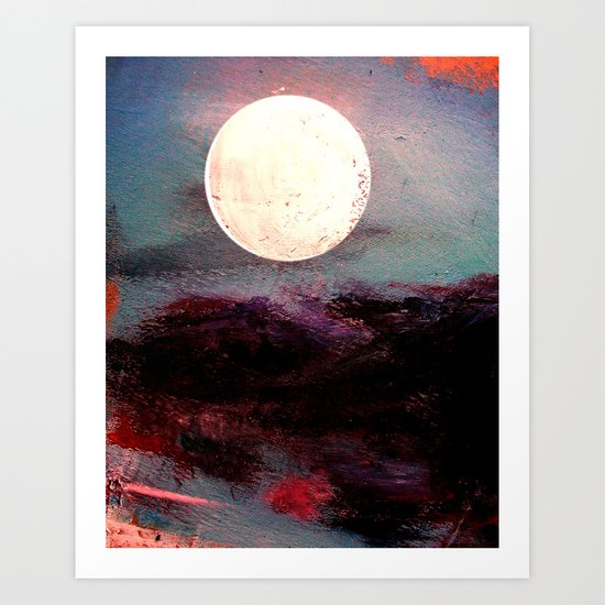 Tonight, I Am Dreaming That We Can Sleep Under The Same Moon. Art Print