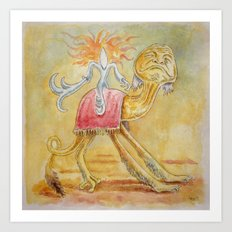 Atop my Desert Steed Art Print