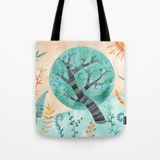 Geometric Tree Tote Bag