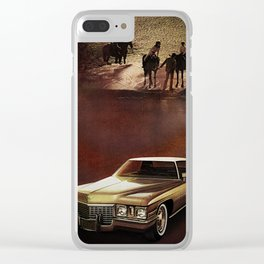 1972 Golden Cadillac Clear iPhone Case