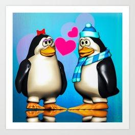Penguin Romance Art Print