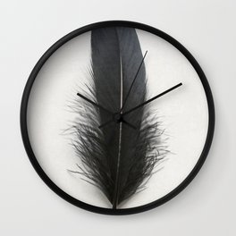Black Feather Wall Clock