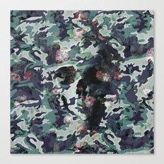 Camouflage Skull V2 Canvas Print