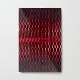 RED MESH Metal Print