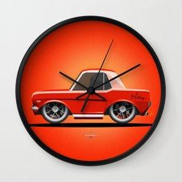 Red Mustang Wall Clock