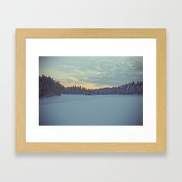 Frozen sunset. Framed Art Print