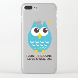 I just freaking love Owls, OK. Clear iPhone Case