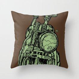 MOTORCYCLE HEADLIGHT Throw Pillow