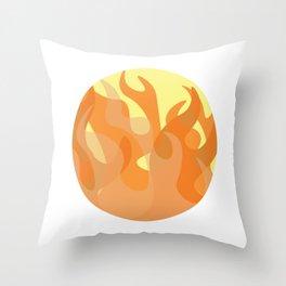 Pastel Flames Throw Pillow