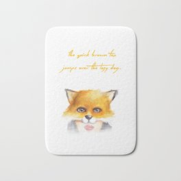 The Quick Brown Fox Bath Mat