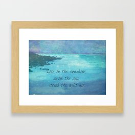 Sunshine quote sea Emerson inspirational Framed Art Print