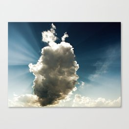 Sun Hidden by Cloud Canvas Print