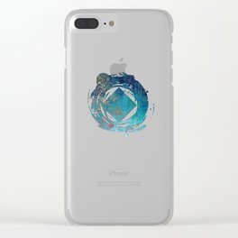 On the verge of Blue Clear iPhone Case
