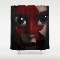 katniss Shower Curtains featuring Katniss by BellaG