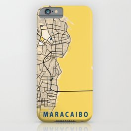 Maracaibo Yellow City Map iPhone Case