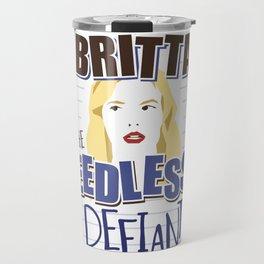 Britta the Needlessly Defiant Travel Mug