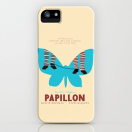 Papillon, Steve McQueen vintage movie poster, retrò playbill, Dustin Hoffman, hollywood film iPhone Case
