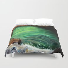 Over the falls Duvet Cover