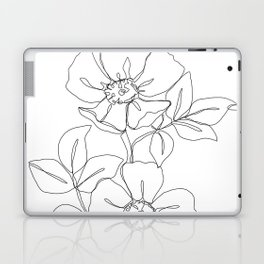 Floral one line drawing - Rose Laptop & iPad Skin