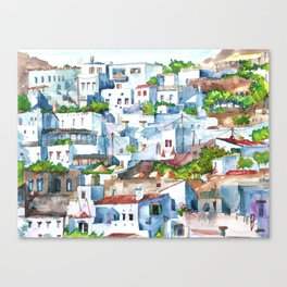 Panorama of Lindos Canvas Print
