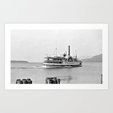 Ticonderoga Side Wheeler Steamboat Art Print