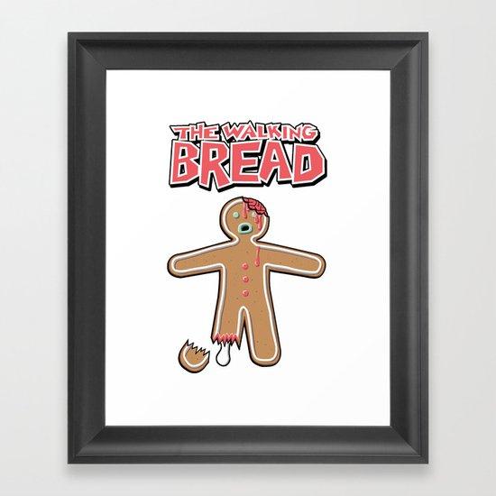 The Walking Bread  Framed Art Print
