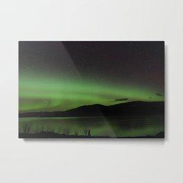 Aurora Borealis Over the Sea - Isle of Skye Metal Print