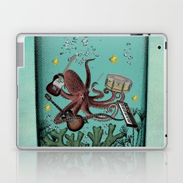 Musical Octopus Print Laptop & iPad Skin