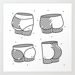 Spotted Patooties Art Print