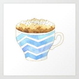 Capuccino Foam Cup Art Print