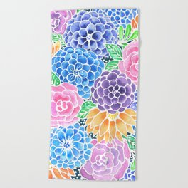 Masked Flora Collection Bloom Beach Towel