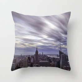 City at Sunset Throw Pillow