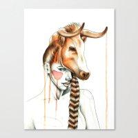 "taurus Canvas Prints featuring ""Taurus"" by Mia Desu"