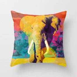 Elephant Pop Throw Pillow