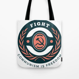 Fight Communism Freedom Tote Bag