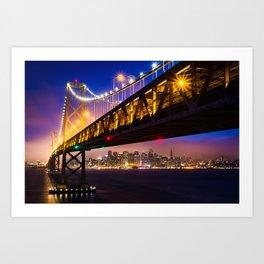 Bay Bridge at Sunset Art Print