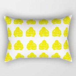 Golden Yellow Asian Moods Buddha Boys Rectangular Pillow