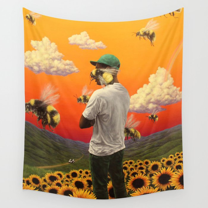 7298a1e7386d Scum Fuck Flower Boy Wall Tapestry by stephensawyer