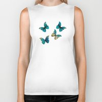 butterflies Biker Tanks featuring Butterflies by Brontosaurus